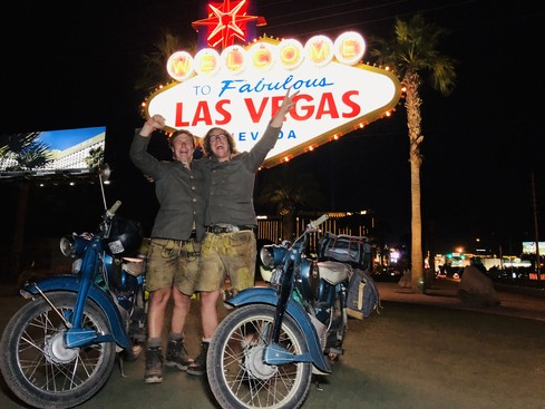 Julian (rechts) und Thomas (links) Wittmann in Las Vegas
